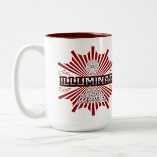 Caneca De Café Em Dois Tons Illuminati não deixa o olho enganar a mente