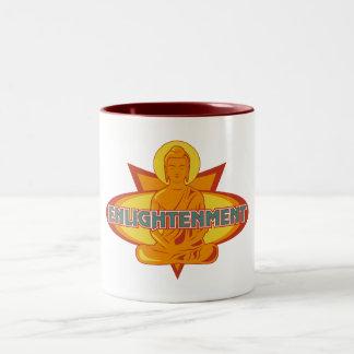 Caneca De Café Em Dois Tons Iluminação de Buddha