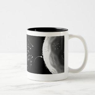 Caneca De Café Em Dois Tons Ilustração preto e branco da fecundação