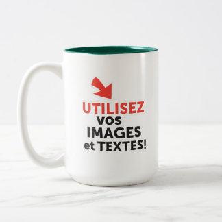 Caneca De Café Em Dois Tons Imprimir os vossos desenhos em linha DIY em