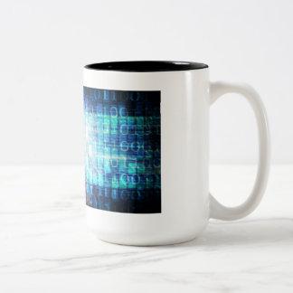 Caneca De Café Em Dois Tons Instrução de Digitas como um conceito Backgroun da