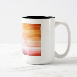 Caneca De Café Em Dois Tons Investigação e desenvolvimento com doutor Visão