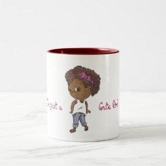 Caneca De Café Em Dois Tons Just a cute (stylish) girl