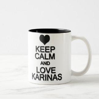 Caneca De Café Em Dois Tons Keep Calm And Love Karinas