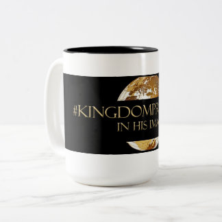 Caneca De Café Em Dois Tons #KINGDOMPRENEUR- em SEU preto do TM da IMAGEM