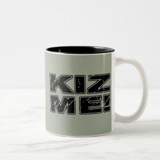 Caneca De Café Em Dois Tons Kiz mim Kizomba