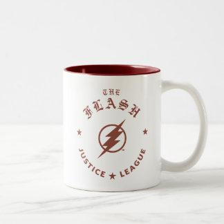Caneca De Café Em Dois Tons Liga de justiça | o emblema retro instantâneo do
