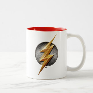 Caneca De Café Em Dois Tons Liga de justiça | o símbolo metálico instantâneo