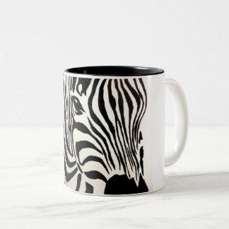 Caneca De Café Em Dois Tons Listras da zebra