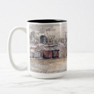 Caneca De Café Em Dois Tons London Mug