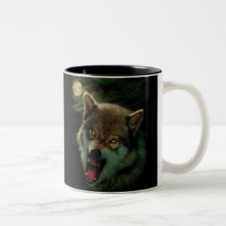 Caneca De Café Em Dois Tons Lua do lobo