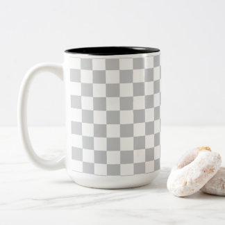 Caneca De Café Em Dois Tons Luz - tabuleiro de damas cinzento