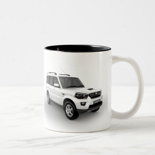 Caneca De Café Em Dois Tons Mahindra Scorpio Mug