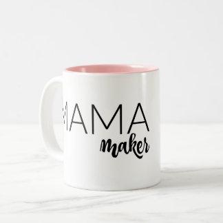 Caneca De Café Em Dois Tons Mama cor-de-rosa Fabricante Caneca!