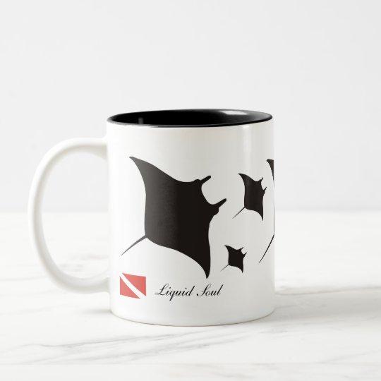 Caneca De Café Em Dois Tons Manta Ray - Mug
