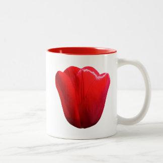 Caneca De Café Em Dois Tons Mantenha a calma e a tulipa em tulipas de Friso do