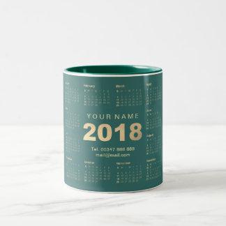 Caneca De Café Em Dois Tons Marca 2018 do endereço do nome da cerceta do ouro