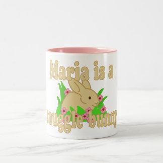 Caneca De Café Em Dois Tons Maria é um coelho do Snuggle