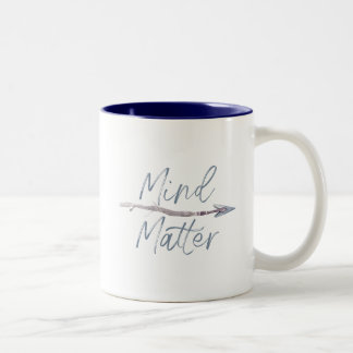 Caneca De Café Em Dois Tons Mente sobre a matéria