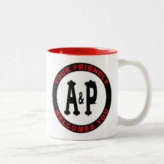 Caneca De Café Em Dois Tons Mercearias de A&P Illinois