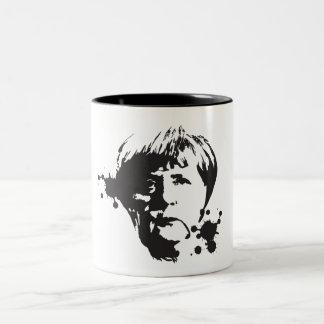 Caneca De Café Em Dois Tons Merkel louco