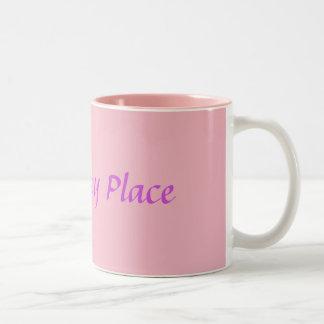 Caneca De Café Em Dois Tons Meu lugar feliz