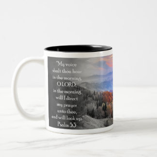 """Caneca De Café Em Dois Tons """"Meu mil do shalt da voz ouve-se na manhã… """""""