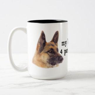 Caneca De Café Em Dois Tons Meus miúdos são german shepherd