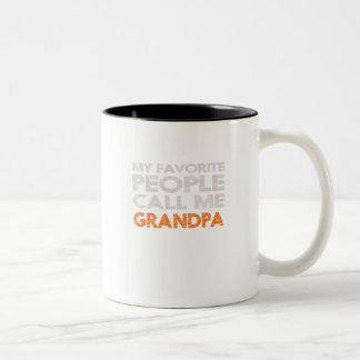 Caneca De Café Em Dois Tons Minhas pessoas favoritas chamam-me vovô