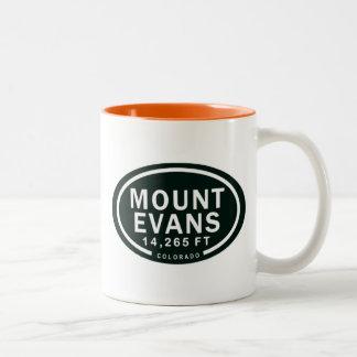 Caneca De Café Em Dois Tons Montanha rochosa de Evans 14.265 FT Colorado da