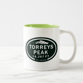 Caneca De Café Em Dois Tons Montanha rochosa máxima de Torreys 14er Denver
