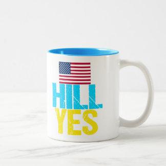 Caneca De Café Em Dois Tons Monte Hillary Clinton sim moderna