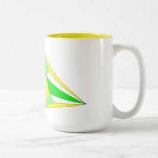 Caneca De Café Em Dois Tons Mug Ir antes em sinfonia de amarelo e de verde