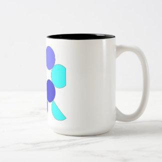 Caneca De Café Em Dois Tons Mug motivo geométrico azul