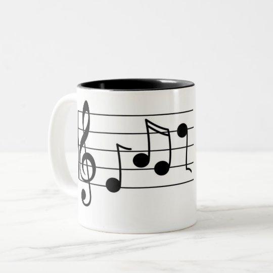 Caneca De Café Em Dois Tons Musica