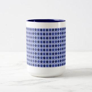 Caneca De Café Em Dois Tons Na moda-Azul-Diamantes (c) Coffee_Multi-Styles_