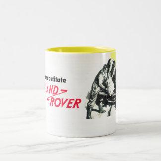 Caneca De Café Em Dois Tons Não há nenhum substituto para Land Rover