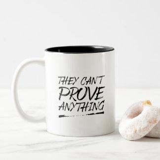 Caneca De Café Em Dois Tons Não podem provar qualquer coisa agredir