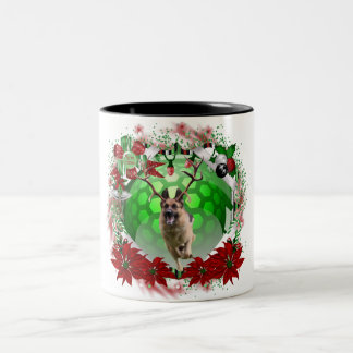 Caneca De Café Em Dois Tons Natal do german shepherd