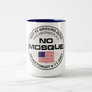 Caneca De Café Em Dois Tons Nenhuma mesquita no ponto zero