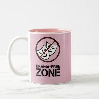 Caneca De Café Em Dois Tons Nenhuma zona do drama