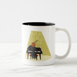 Caneca De Café Em Dois Tons Nerd do rolo da rocha N