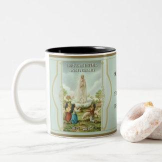 Caneca De Café Em Dois Tons Nossa senhora de Fatima & de St. Martha