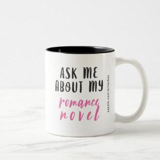 Caneca De Café Em Dois Tons Novela romance (Branco-Cor-de-rosa-Preta)