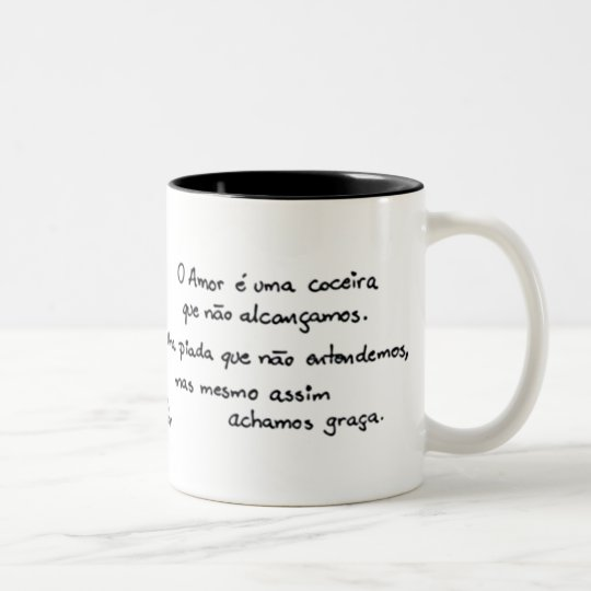 Caneca De Café Em Dois Tons O Amor