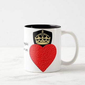 Caneca De Café Em Dois Tons O café do coração ou o chá resiliente 11oz dois