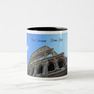 Caneca De Café Em Dois Tons O Colosseum em Roma, Italia