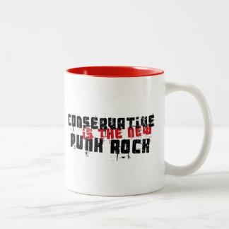 Caneca De Café Em Dois Tons O conservador é o punk rock novo
