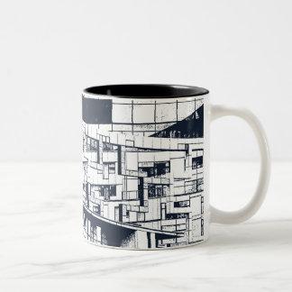 Caneca De Café Em Dois Tons O cubo Birmingham