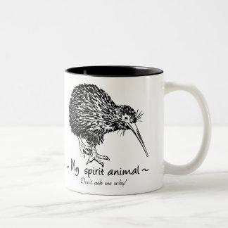 Caneca De Café Em Dois Tons O Dodo é meu animal do espírito. Não me pergunte